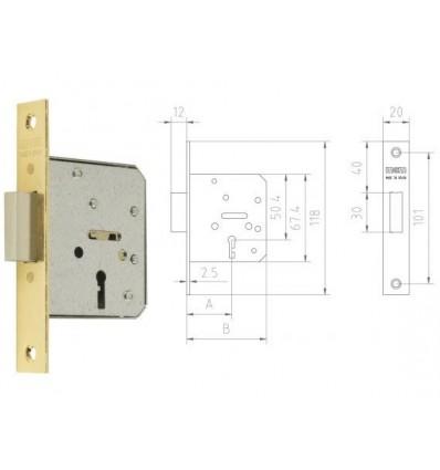 ZAMEK MCM 1513 ROZMIAR 35 ( 3 klucze)